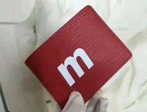 hombre del diseñador billetera hombres famosos de lujo L carteras de lona especial múltiple corta pequeña de doble pliegue billetera envío libre