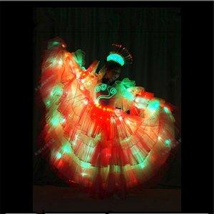 TC-173 Programmable führte Frauen leichte Kleider Hochzeit Kostüme Tanz Showbar Ereignis Party Supplies Festliche Party Supplies Bühne w