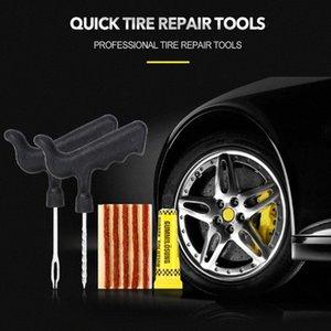 Автомобиль шин Инструменты для ремонта бескамерной шины Прокол Ремонт штепсельной вилки Kit иглы Patch Fix Tools Cement Полезное Set Quick Tire Набор инструментов xjxq #