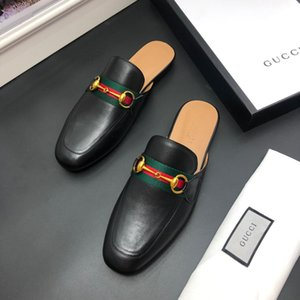 gucci Mode Hommes luxe Chaussons DESIGNERS Sandales Plage Slipper Tide Male Rivet Stud Chaussons antidérapants Hommes en cuir Spikes Casual Shoes