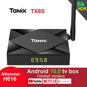 TX6S Tanix Android 10.0 TV Box H616 Chip TX6 4GB 64GB Smart-TV-Box Media Player Dual-WiFi Bluetooth 8K TV Set-Top-Box