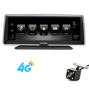 4G 8 polegadas carro DVR GPS Navegação Tela de toque 16GB Android 5.1 WiFi Navigator 1080p Dash Câmera de Vista traseira, Monitor de estacionamento