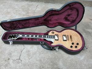 Acabado acabado brillante superior Cuerpo de caoba macizo personalizado zurda guitarra eléctrica