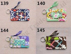 VB Zip Portefeuilles Flora Retro Imprimer Sac Carte coton Porte-monnaie Marque ID Card Case Holder Bus slot Femmes Filles luxe mignon carte Coin Pouch C110704