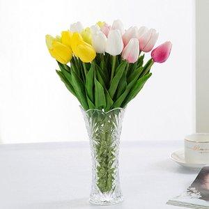 1pcs Home Decor Tulipe artificielle Faux soie Fleur Ivy vigne Hanging Garland Décor de mariage