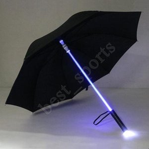 Cool Blade Runner Light Saber LED Flash Light Umbrella Rose Umbrella Night Walkers Flashlight Bottle Umbrella ZZA1395