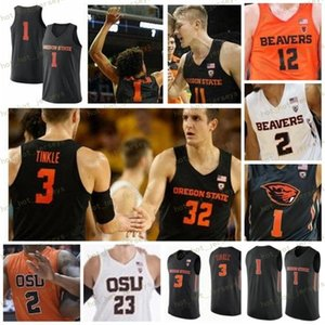 NCAA personalizado Oregon State Beavers Jersey Qualquer Nome Número 3 Tres Tinkle 20 Gary 1 Stephen Thompson Payton Scott Howard 23 Gligorije Rakocevic