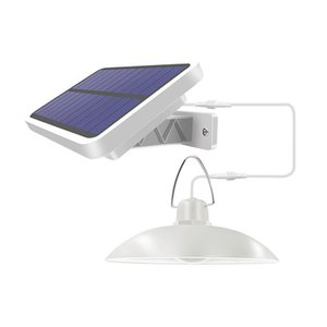 Solarlampe im Freien Innensolarpendelleuchte Double Head mit Linie warmen Weiß / Weiß-Beleuchtung für Camping Home Garten-Yard-Lampe