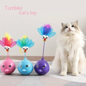 Toy New LED Cat Interactive Toy Ball Cat Toy Electric Flying Butterfly Bird Tick Tick Stick