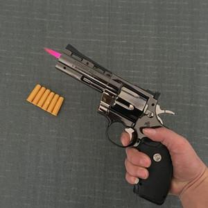 Python Revolver Feuerzeug Metall Revolver Typ Gun Inflatable windundurchlässiges Feuerzeug Möbel Ornamente Personalized Ornaments 357 Gun Lighte