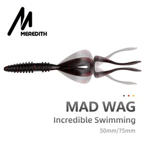 Pesca Meredith Mad Wag morbido di pesca esche 50mm 75mm artificiale morbida esche Predator morbido silicone Wobblers Fishing Lures wwjVw