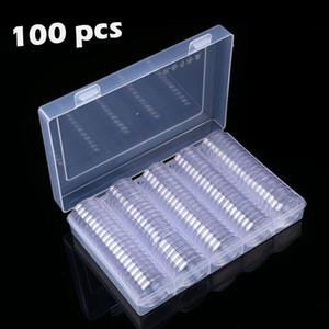 Cajas de almacenamiento para 30 mm redondo claro plástico de la moneda de la cápsula más nueva disponible cuadro titular