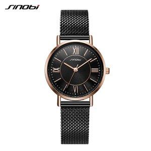 wholesale New Arrival Classic Women Watches Black Golden Luxury Simple Stainless Steel Bracelet Watch Ladies Wristwatch Reloj Mujer