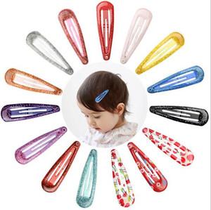 Baby Mädchen Haarschmuck Lolita Style Sparkle Powder Wassertropfen Haarspange Macaron Öltropfen Farbe Clipper Candy Farbe bb Haarschmuck