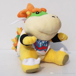 2018 envío libre 7 pulgadas juguetes de peluche Koopa Bowser dragón muñeco de peluche Hermanos Bowser JR felpa suave