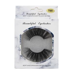 gros T05 25 mm Faux Cils épais Strip 3D Mink Lashes Longueur extra Vison Cils Maquillage dramatique cils longs Mink