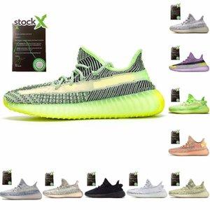 Sapatos V2 Yecheil Yeezreel Mulheres Homens executando tênis preto estática Reflective Barro Branco Zebra desigmor Luxury Sport Shoe Kanye Chaussure