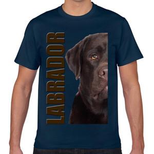 Tops T Shirt Men labrador retriever Masculino Casual Preto personalizado Camiseta