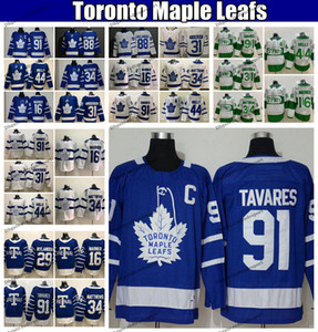 2020 Toronto Maple Leafs 91 John Tavares (C) Auston Matthews Mitchell Marner Frederik Andersen Morgan Rielly William Nylander Hockey Jerseys