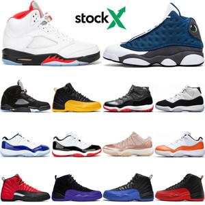 Basketball Shoes Mens Trainers 5s 2020 rosso fuoco TOP 3 11s bianche Bred Concord Blu metallizzato argento 12s Cowgirl Flu gioco di sport delle scarpe da tennis