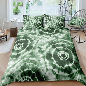 Tie-dye Bedding Set King Fashion 3D Green Creative Duvet Cover Queen Twin Full Single Double Soft Bed Cover with Pillowcase