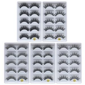 5 Paare / satz 3D Nerz Wimpern Nerz Falsche Wimpern Natürliche Dicke Lange Handgemachte Falsche Wimpern Augen Make-Up Wimpern Verlängerung Werkzeuge GGA2098