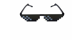 10pcs  lot Thug life Deal With It Sunglasses Men Glasses Women Hot Sell Sun Glasses olygonal 8 Bits Style Pixel With Nose Pad