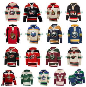 Blue Jackets de Columbus Hoodie des Sénateurs d'Ottawa Sabres de Buffalo Hurricanes de la Caroline du Minnesota Panthers sauvage Old Time Hockey Jersey Pull