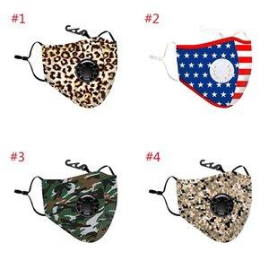 Máscaras PM2.5 4 Poeira-prova para Camouflage listrado Outdoor equitação e corrida com a respiração Máscaras válvula não incluem filtro XHH9-3033