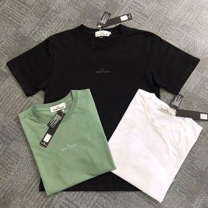 Yeni bahar ve yaz temel pamuk kısa kollu erkek tişört 3M yansıtıcı baskı pamuk kısa kollu Taş gündelik tişört 2020 ADASI