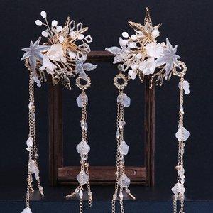 Braut Kopfschmuck Ohrring Sets Hochzeit Kopfschmuck Super Fairy Hair Headpieces Zubehör 2020