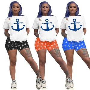 Women Tracksuit 2 Piece Set Summer Short Sleeve T-Shirt+Shorts Crew Neck Sports Suit Fashion Outfits Hot Sale Jogging Suit 3330