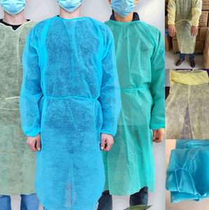 Защита НЕТКАНОГО костюма свободного размера Одноразовых защитная изоляция одежда Для дома Открытого костюма НЕТКАНЫХ платьев плащей LJJK2359