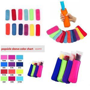 Несколько цветных Popsicle изоляция крышка Портативной Лето Главной неопрена Popsicle рукав рукавица Popsicle рукав T3I5843