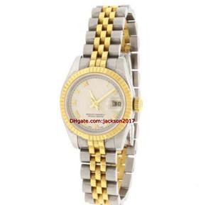 regalo de Navidad del reloj de pulsera de alta calidad 26MM DOS tono blanco ROMANO F SERIES Nueva hebilla V179173