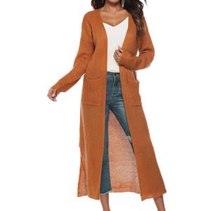 solto tricô suéter Outono Inverno Moda feminina manga comprida Womens malha Feminino Cardigan femme tração