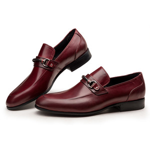 Men's Leather Shoes Business Formal Wear Leather Shoes Work Wear High Oxfords Chaussure Homme
