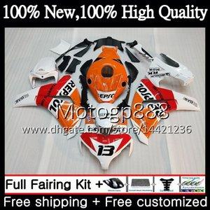Iniezione per HONDA Repsol bianco CBR1000 RR 08 11 CBR1000RR 08 09 10 11 42PG4 CBR 1000 RR CBR 1000RR 2008 2009 2010 2011 Carenatura Carrozzeria