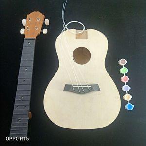 Ukulele DIY Kit 23 inch Handmade Hawaii Mini Guitar Kids Children Assembly Gifts Musical Stringed Instruments Accessory