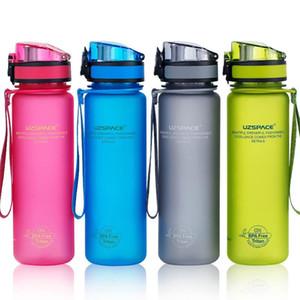 Bottiglie di acqua a perfetta tenuta Shaker sport esterno di bere il mio Bottiglia per acqua Tritan Plastic Eco-Friendly Drinkware BPA libero 500 / 1000ML