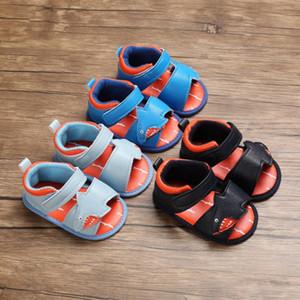 WEIXINBUY младенца лета мальчиков кожаные сандалии Cute Animal Flat Дети пляжная обувь Дети Спорт Мягкие малышей Sandalias 0 18M сандалии для eJQE #
