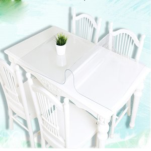 Modern kitchen oil tablecloth set soft glass tabletop Pvc transparent water boat 1.0 mm thickness. 52 sizes are optional2018