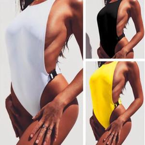 Neue schnalle ein stück 2018 Hot solide bademode Frauen sexy badeanzug Hochwertige solide bady suit maillot de bain badeanzug