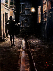 Fabian Perez Large painting El Paseo Cityscape Art Home Decor Handpainted &HD Print Oil Painting On Canvas Wall Art Canvas Pictures 200229