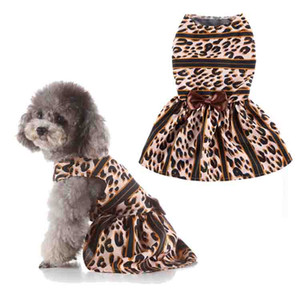 Pet Dogs cats clothes Dog Gauze skirt Pet Vest apparel Bowknot Lace Dress Puppy Spring Summer Dress