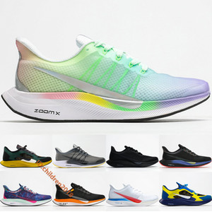 Pegasus 35 Turbo Running Shoes For Mens Womens Lightweight Designer Colorful Gridiron Black Undercover Gyakusou Blue Off Sneakers Size 36-45