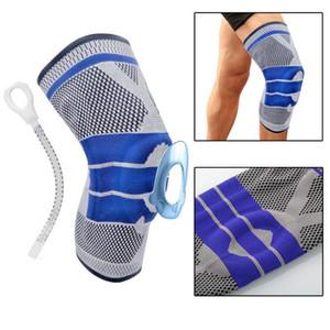 Aptitud que se ejecuta la rodilla Rodilla Ciclismo Soporte tirantes elásticos de nylon Sport compresión del cojín de la manga de Básquet