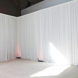 단계 다채로운 웨딩 배경 커튼 이벤트 파티 장식 사용자 정의 결혼식 무대 배경 실크 드레이프 장식