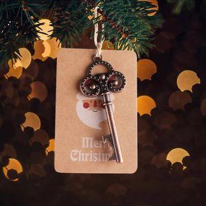 OurWarm 50sets de Santa Magic Key com papel kraft esqueleto abridor de garrafas Feliz decorações de Natal para casa Ano Novo Ornamento Y18102609