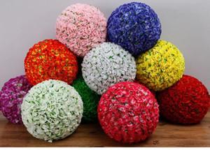 Fabrik-Versorgungs Vielzahl von Rosenblumenkugel mit grünem Blatt-küssende Kugel für Hochzeit Gartendekorationen Marktzentrum dekorative Blumen